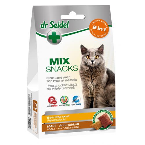 dr Seidel smakołyki dla kotów 2w1 Sierść i Odkłaczanie